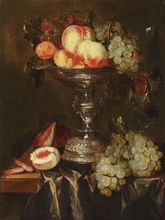 Date unknown - Beyeren, Abraham van - Still life with fruits in a Tazza - oil on panel - 47,5 x 36 cm