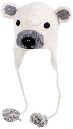 New Sanrio HelloKitty Girl//Kids Fur-Lined Trapper Winter Warm Hat//Cap White Red