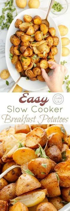 Easy Slow Cooker Bre Easy Slow Cooker Breakfast Potatoes |... Easy Slow Cooker Bre Easy Slow Cooker Breakfast Potatoes | thecookiewriter.com | Kacey @ The Cookie Writer | #sponsored | A great Christmas morning gluten-free recipe that can easily be made ve