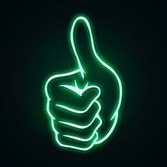 Green Aesthetic Tumblr, Dark Green Aesthetic, Neon Aesthetic, Wallpaper Iphone Neon, Aesthetic Desktop Wallpaper, Homescreen Wallpaper, Cool Animated Gifs, Light Icon, Thumbs Up Sign