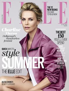Charlize Theron fronts the June 2015 issue of ELLE UK