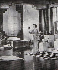 Art Deco dressing room