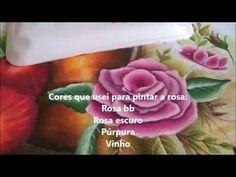 Como faço retoque de rosa - Treino Pintura em Tecido - Graça Tristão