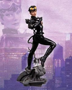 """From #DCComics the New 52, Alter Ego Comics brings you the DC Comics Cover Girls #Catwoman statue. Selena scores big in this beautifully designed statue from the DC Comics Cover Girls line of collectables. Featuring her sexy costume from the DC Comics – The New 52. Catwoman is ready to whip the Dark Knight into shape if he tries to stop her!  Statue measures approximately 10.125"""" inches tall"""