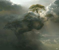Giant Tree, Tianhua Xu on ArtStation at https://www.artstation.com/artwork/oVAL