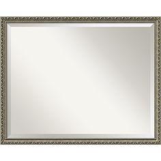 'Parisian Silver Wall Mirror - Large' 30 x 24-inch