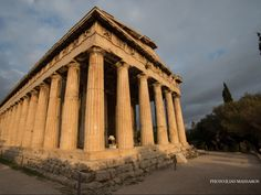 Temple of Hephaestus Athens Greece || Well-preserved ancient temple.