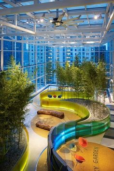 Chicago Children's Hospital Garden - nice indoor idea to take outside...