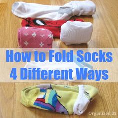 Showing you 4 different ways how to fold socks, including the military style of folding socks.