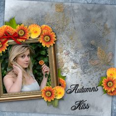 """""""Autumn's Kiss"""" By Zesty Designs, what a Gorgeous Warm Autumn Kit! I have always loved having a book/books in the elements, always and foliage too! But, you CAN design more than just Autumn pages with this kit! It's splendid! And ON SALE NOW!! Hurry, don't miss this sale!!! Click here: Digital Art :: Kits :: Autumn's Kiss  https://www.digitalscrapbookingstudio.com/digital-art/kits/autumns-kiss/"""