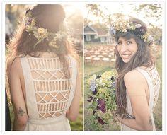 Amazing detail on Pamela Love's beautiful boho wedding gown