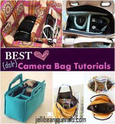 Best DIY Camera Bag Tutorials - Jellibean Journals Diy Bag and Purse diy camera bag purse
