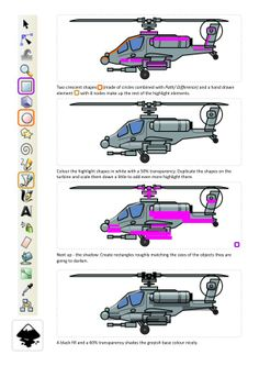 2D Game Art for Programmers: Apache Helicopter