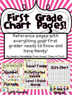 First Grade Chart Pages Resource  product from Sweet-Times-in-First-Shop on TeachersNotebook.com