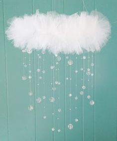 This beautiful pure white almost rain cloud like mobile is sure to bring any room a delicate touch of elegance and inspiration to each admirer. The mobile design is versatile enough to suit infant to adult. The mobile will be lovely to adorn over any dres Girl Nursery, Girl Room, Baby Room, Diy And Crafts, Diy Projects, Diys, Pure Products, Changing Station, Pure White