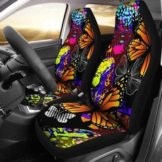 Colorful kaleidoscope car seat covers car seat covers, car accessories, car accessory for woman, sea Custom Car Accessories, Car Accessories For Women, Jdm, Girls Cup, Phones For Sale, Fit Car, Premium Cars, Video Pink, Car Images