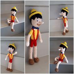 Pinocchio #amigurumi Pinocchio, Elf On The Shelf, Holiday Decor, Boys, Fictional Characters, Art, Amigurumi, Baby Boys, Art Background