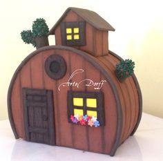 Festa Masha e o Urso - topo de bolo Casa do Urso - em EVA