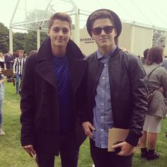 @Jack Harries and @Finn Harries at the #Burberry show space #LCM