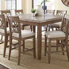 Franco Collection Counter Height Dining Set Preconfiguration: 9 Piece Square Counter Height Dining Table Set on sale every day at Hayneedle. Shop our collection of Counter Height Dining Set and get savings of or more! Cheap Dining Room Sets, Counter Height Dining Table, Extendable Dining Table, Dining Table In Kitchen, Dining Tables, Dining Area, High Dining Table Set, Pub Tables, Counter Chair