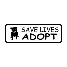 13.8CM*4.6CM Save Lives Adopt Pit Bull Dog Vinyl Car Or Truck Back Glass Window Sticker Car Stylings Car Decoration