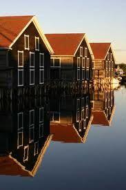 Swedish boathouses