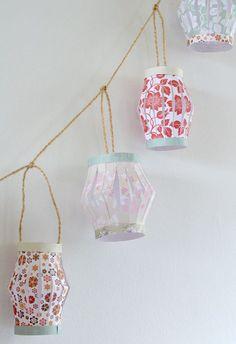 DIY Paper Lantern Garland ❥