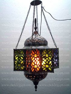 BR36 Egyptian Handmade Islamic Pendant/Hanging Lamp/Lantern in Collectibles, Cultures & Ethnicities, Egyptian | eBay