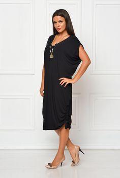 Rochie neagra oversize CBM1121 - AMA Fashion