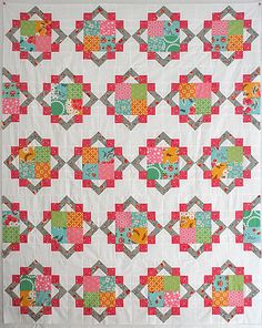 Cathedral Square quilt by freshlypieced, via Flickr