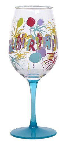 CR Gibson QWG14122 Lolita  Birthday Bash Acrylic Wine Drinkware Set Multicolor ** Click image to review more details.Note:It is affiliate link to Amazon. #inspire