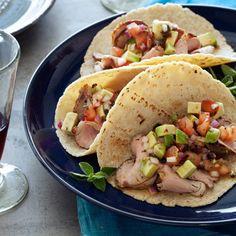 Pork Tenderloin Tacos with Avocado Salsa Recipe  - Melissa Rubel Jacobson | Food & Wine
