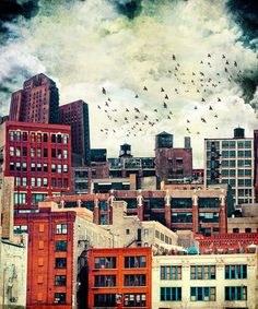 "The Rooftop #6 Art Print (8""x9"") - via society6.com"