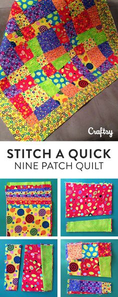 Stitch a Quick and Easy Crazy Nine Patch Quilt Pattern