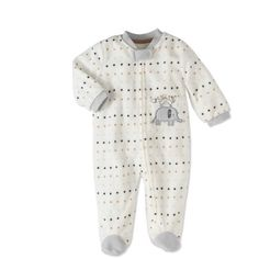 Rene Rofe Baby Newborn Boy or Girl Unisex Microfleece Blanket Sleeper Pajamas, Size: 3 - 6 Months, White