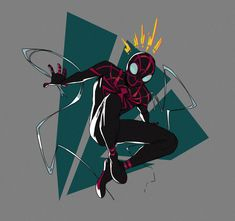 Batman Redesign, Spider Costume, Spectacular Spider Man, Marvel Fan Art, Superhero Design, Spiderman Art, Spider Verse, Character Design Inspiration, Character Illustration