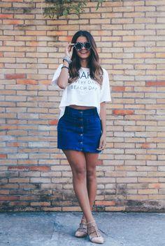 dee445ec1 saia jeans com botões na frente Estilo Tumblr, Urban Fashion, Look Fashion,  Girl