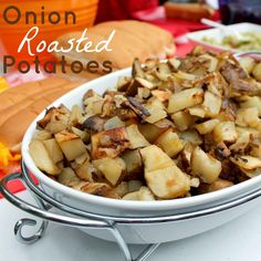 One of the best side dishes are these Onion Roasted Potatoes! They are so good!