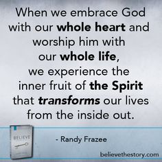 Embrace God with your whole heart and whole life! Whole Heart, Follow Jesus, God First, Praise God, Christian Faith, Spiritual Growth, Helping People, Truths, Quotations