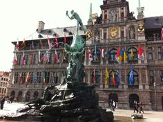 "Antwerp City Hall and ""Brabo"""