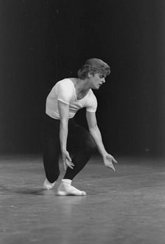 """New York City Ballet production of """"The Four Temperaments"""" with Mikhail Baryshnikov, choreography by George Balanchine (New York)"""