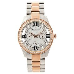 @Overstock.com.com - Kenneth Cole New York Women's Two-tone Crystal Accented Watch - Bring style and sophistication home with this beautiful women's watch from Kenneth Cole featuring a stunning mother-of-pearl dial. This watch features CZ stone accents and secures with a fold-over clasp.  http://www.overstock.com/Jewelry-Watches/Kenneth-Cole-New-York-Womens-Two-tone-Crystal-Accented-Watch/8025326/product.html?CID=214117 CAD              138.37