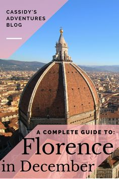 What to do in Florence in December // Cassidy's Adventures Blog // The winter is the best time to travel in Italy because the tourists have all left! Museums are empty and the weather isn't all that bad. But the mulled wine sure helps! #christmasmarket #florence #wanderlust #travel