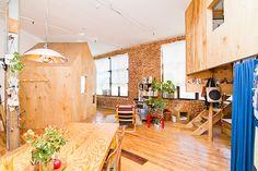 Wood Cabin and Treehouse Inside of a Brooklyn Loft   DesignRulz.com