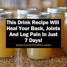 If you have problems with pain in the joints, back, legs, or neck, this is the recipe for you!