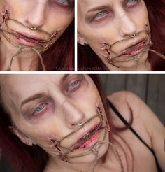 #Zombies #Makeup by Sandra Holmbolm. No tutorial but list of products used.