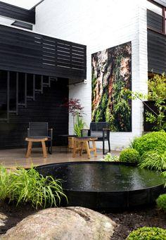 TV GARDEN DESIGN AT TV2 - Therese Knutsen Modern Garden Design, Landscape Design, Modern Design, Indoor Garden, Outdoor Gardens, Rooftop Garden, Small Backyard Landscaping, Small Backyard Design, Design Jardin