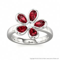 Ruby Ring #floral #ruby #jewelry