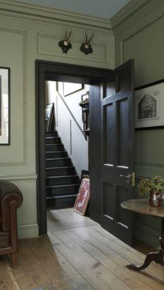 """Farrow & Ball """"mahogany"""" to door.. <3 for kitchen architraves and doors"""