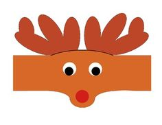 Copy the first and second page on brown construction paper then have student cut on doted lines and paste together. (If you will like to have children create the antlers by tracing their hands and cutting them out, then use page 3 instead of 1) Copy the sheet with the eyes and nose on white Christmas Printable Activities, Construction Paper, Antlers, Kindergarten, Valentines, Student, Hands, Holidays, Eyes
